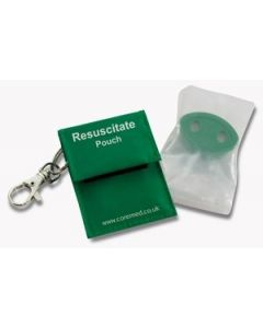 Resuscitation Aid in Pouch With Key Ring
